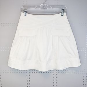 Nanette Lepore White Mini Skirt